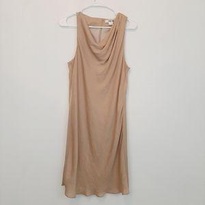 HELMUT LANG gold draped dress